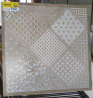 Gạch Trang Trí 60×60 Vàng Mờ Vitto 942