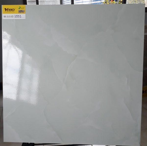 Gạch Lát Nền Vitto 60×60 3503 Màu Xanh Nhạt Bóng