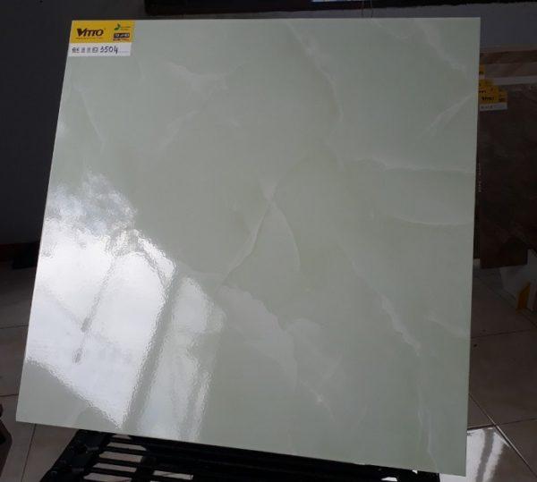 Gạch Lát Nền Vitto 60×60 3504 Màu Xanh Vân Mây Bóng