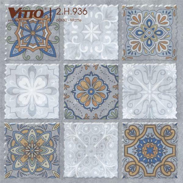 Gach Trang Trí 60×60 Mờ Vitto 936