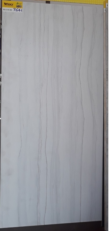 Gạch Lát Nền 60×120 Trắng Vân Đá Men Mờ Vitto 3641