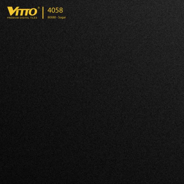 Gạch Lát Nền 80×80 Màu Đen Sugar Nhám Vitto  4058