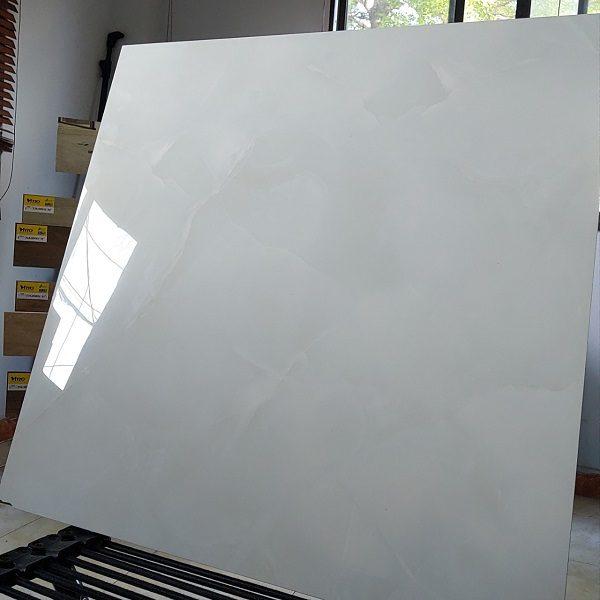 Gạch Lát Nền 60×60 Màu Xanh Nhạt Vân Đá Bóng Kính Vitto 783