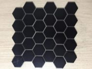 Gạch MosaicLục Giác Gốm Cao Cấp Màu Đen