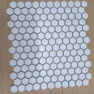 Gạch Mosaic Trang Trí Lục Giác Màu trắng
