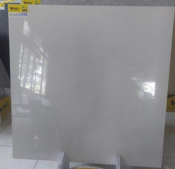 Gạch Lát Nền Vitto 80×80 0888 Màu Trắng Trơn
