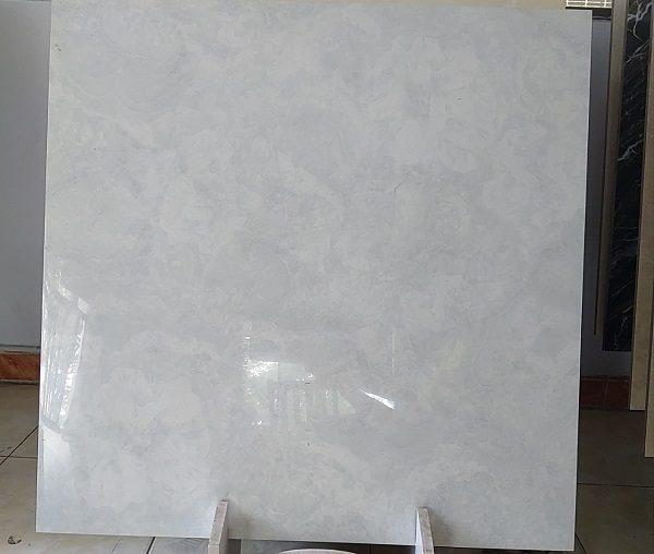 Gạch Lát Nền 80×80 Màu Xám Vân Xà Cừ Bóng Kính Toàn Phần Vitto 828