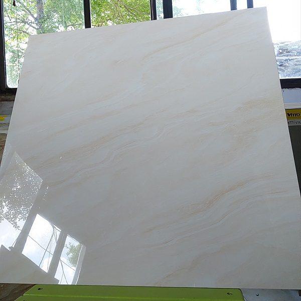 Gạch Lát Nền 60×60 Màu Vàng Kem Bóng Kính Vitto 703