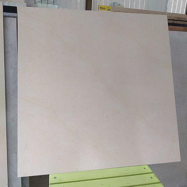 Gạch Lát Nền 60×60 Màu Vàng Kem Vân Đá Nhám Vitto 664