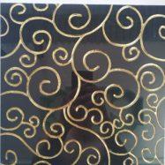 Gạch Màu Đen Nhủ Vàng 30×30 Cao Cấp Đường Hoa Văn Màu vàng