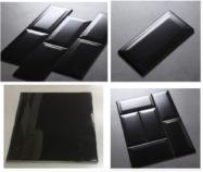 Gạch Thẻ Ốp Tường Màu Đen Chữ Nhật – Hình Vuông