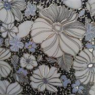 Gạch Ốp Tường Trang Trí 30×30 Nhủ Trắng Bông Hoa
