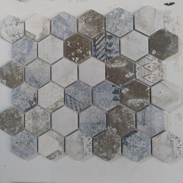 gach mosaic luc giac mau trang vi 30x30