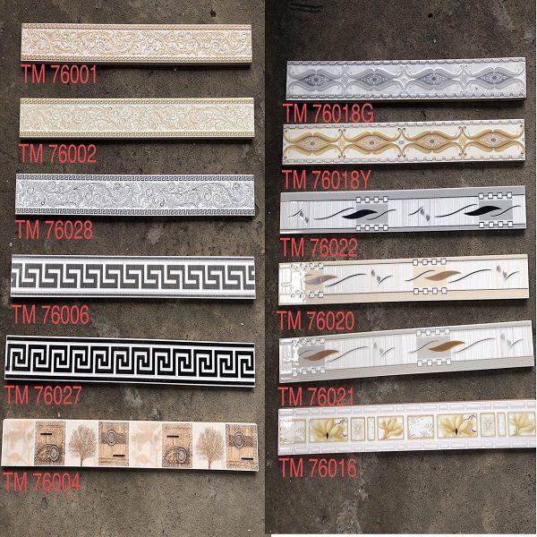 20 Mẫu Gạch Đường Viền Ốp Tường 7×60 Trang Trí Cao Cấp