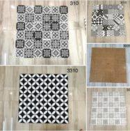 Gạch Bông Men Trang Trí Ốp Tường 30×30 Hoa Văn Màu Trắng Đen
