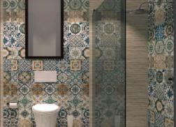 gạch bông ốp tường phòng vệ sinh