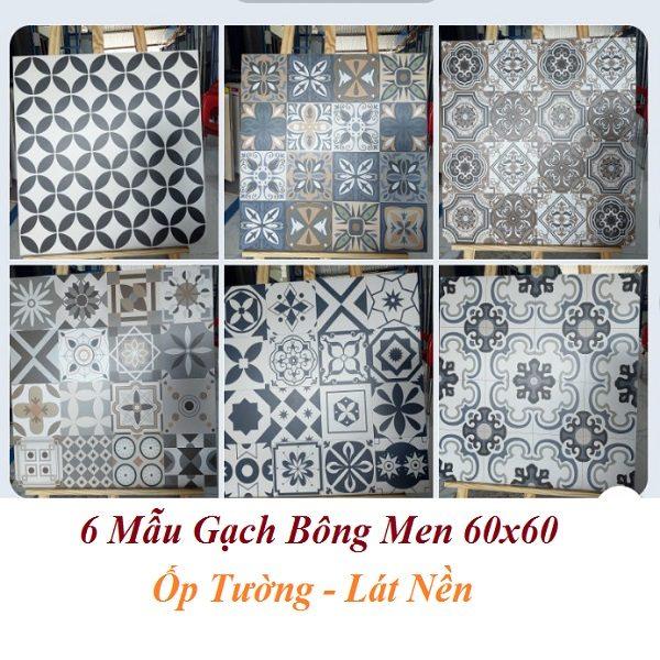 6 Mẫu Gạch Bông 60×60 Catalan 6201 6202 6203 6204 6205 6206