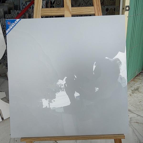 Gạch 60×60 Trắng Vân Mây Viglacera 663001 Đá Bóng Kính