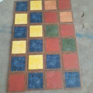 Gạch Bông Men 20×20 CM 3 Màu Xanh – Đỏ – Vàng