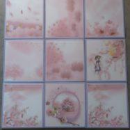 Gạc Bông Men 20×20 Màu Hồng Nhạt Trang Trí Ốp Tường