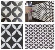 Gạch Bông Men Hình Đồng Tiền 20×20 Cm – Màu Trăng Đen
