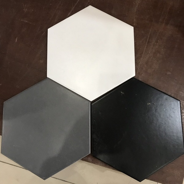 Gạch Lục Giác Kết Hợp Màu Xám – Màu Đen – Màu Trắng