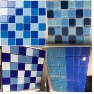 Gạch Mosaic Thủy Tinh Màu Xanh Trong Hồ Bơi