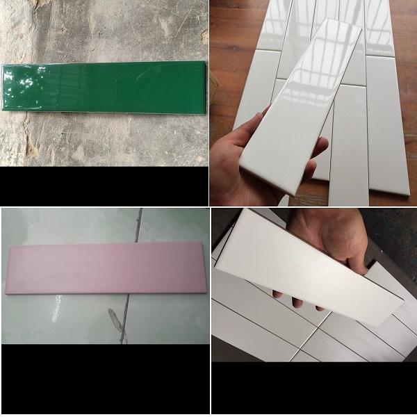 Gạch Thẻ 10×30 Ốp Tường Trang Trí Màu Trắng – Đen –  Xanh – Hồng