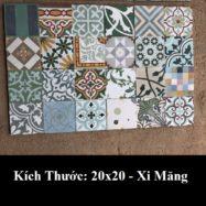 Gạch Bông Xi Măng Cổ Điển trang Trí 20×20 Giá Rẻ