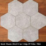 Gạch Lục Giác Lát Nền Màu Xám Tro 20×23 Cm Giá Rẻ