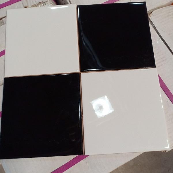 Gạch Thẻ 10×10 Màu Trắng – Đen Trang Trí Ốp Tường