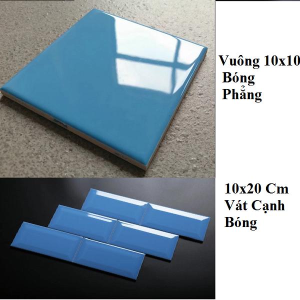Gạch Thẻ Ốp Tường Màu Xanh 10×10 10×20 Cm Giá Rẻ
