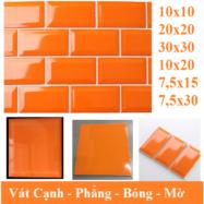 Gạch Thẻ Ốp Tường Màu Cam 10×20 10×10 10×30 30×30 7,5×15 Cm