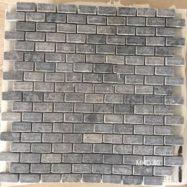Đá Mosaic Tự Nhiên Màu Xám Hình Chữ Nhật Ốp Tường