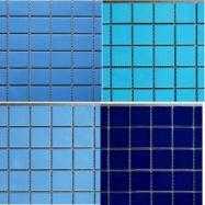 Gạch Đá Mosaic Trang Trí Hồ Bơi Màu Xanh Cao Cấp