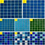 Gạch Mosaic Gốm Men Rạn Màu Xanh Hồ Bơi Cao Cấp