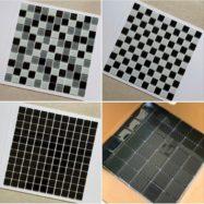 Gạch Mosaic Thủy Tinh Màu Đen – Màu Xám Giá Rẻ