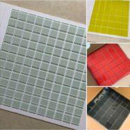 Gạch Mosaic Thủy Tinh Màu Đen – Màu Xám – Màu Đỏ – Màu Vàng