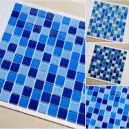 Gạch Mosaic Thủy Tinh Giá Rẻ – Màu Xanh Ốp Lát Hồ Bơi