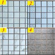 Gạch Đá Mosaic Trang Trí Vân Màu Xám – Trắng Vân Khói
