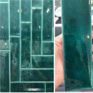 Gạch Thẻ Ốp Tường 7,5×30 Cm Màu Xanh Men Rạn Cao Cấp