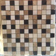 Đá Tự Nhiên Mosaic Cẩm Thạch 3 Màu Xám Vàng Nâu