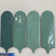 Gạch Mosaic Lông Vũ 3 Màu Xanh Lá – Xanh Dương – Xanh Rêu