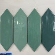 Gạch Mosaic Hình Mũi Tên 3 Màu Màu Xanh lá – Xanh Dương