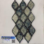 Gạch Mosaic Màu Xanh Rêu Ốp Tường Trang Trí Cao Cấp