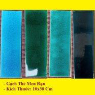 4 Mẫu Gạch Thẻ Men Rạn 10×30 Trang Trí Ốp Tường Màu Xanh