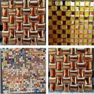 3 Mẫu Gạch Mosaic Kính Màu Vàng Ốp Tường Nhập Khẩu