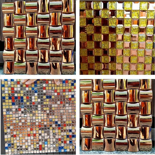 3 mau gach mosaic kinh thuy tinh mau vang cao cap