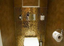 Gạch mosaic thủy tinh màu vàng cho phòng vệ sinh