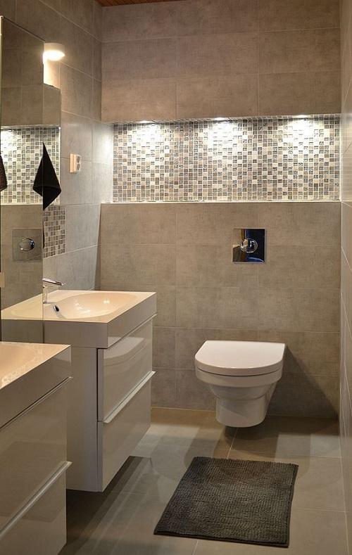 Gạch mosaic thủy tinh màu vàng mang tới nhiều hơn những phương án sử dụng cho phòng vệ sinh